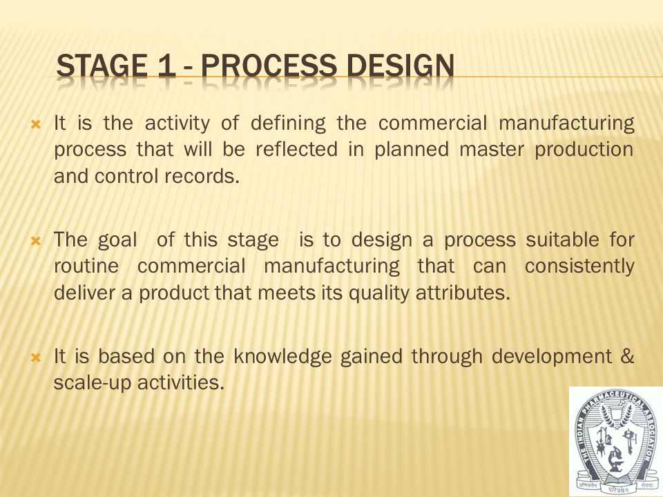  It is the activity of defining the commercial manufacturing process that will be reflected in planned master production and control records.  The g