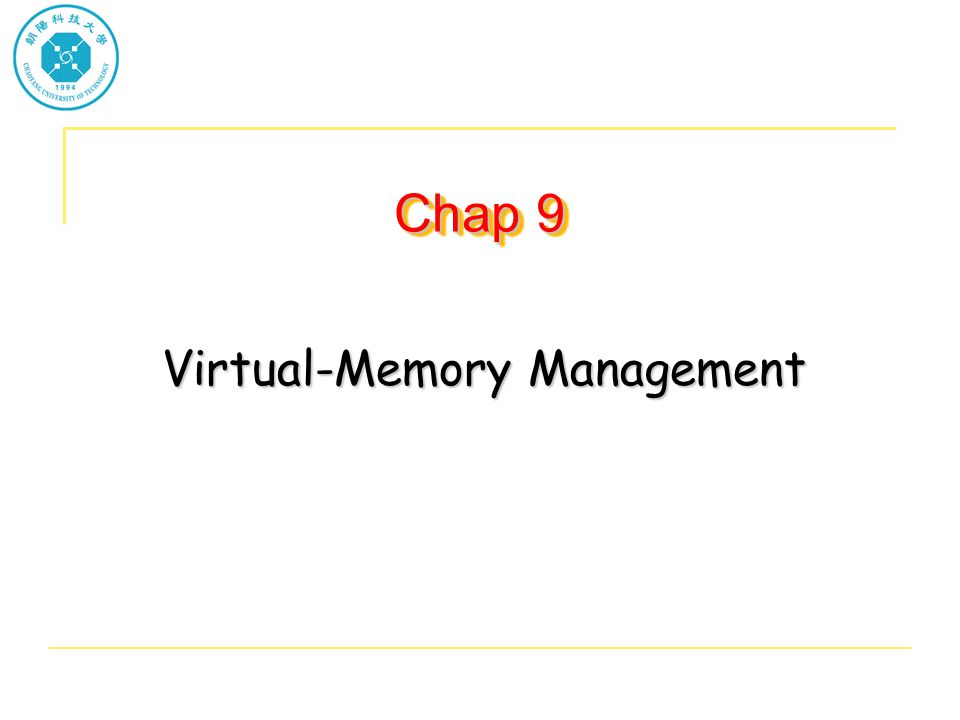Page Replacement Prevent over-allocation of memory by modifying page-fault service routine to include page replacement Use modify (dirty) bit to reduce overhead of page transfers – only modified pages are written to disk Page replacement completes separation between logical memory and physical memory – large virtual memory can be provided on a smaller physical memory