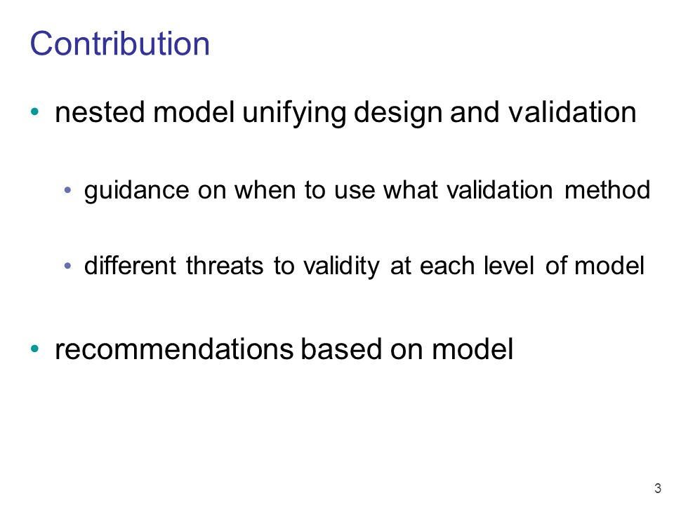 4 Four kinds of threats to validity