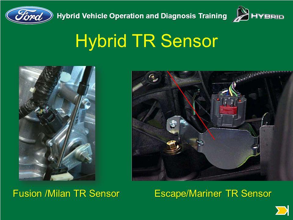 Hybrid Vehicle Operation and Diagnosis Training Hybrid TR Sensor Fusion /Milan TR Sensor Escape/Mariner TR Sensor