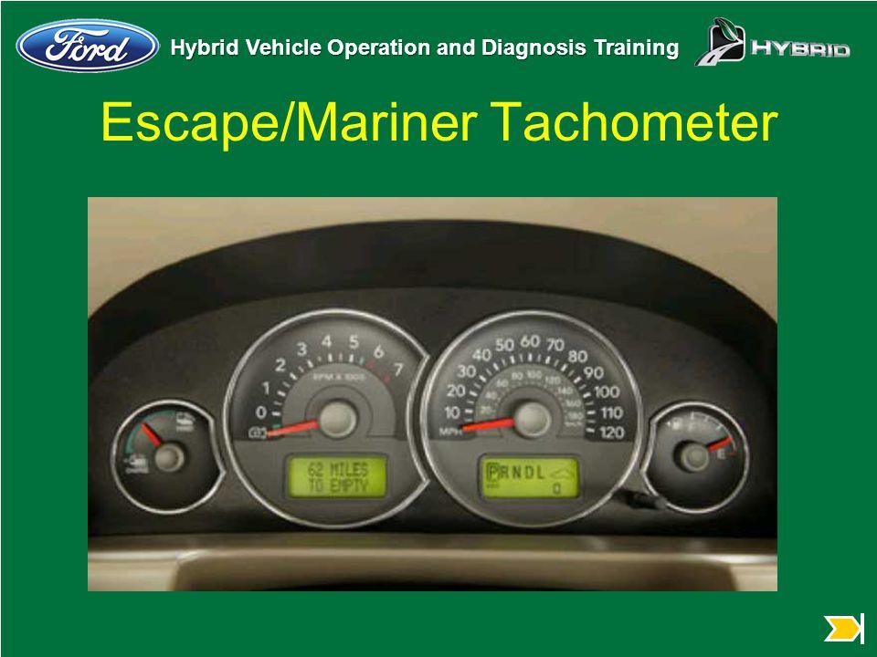 Hybrid Vehicle Operation and Diagnosis Training Escape/Mariner Tachometer
