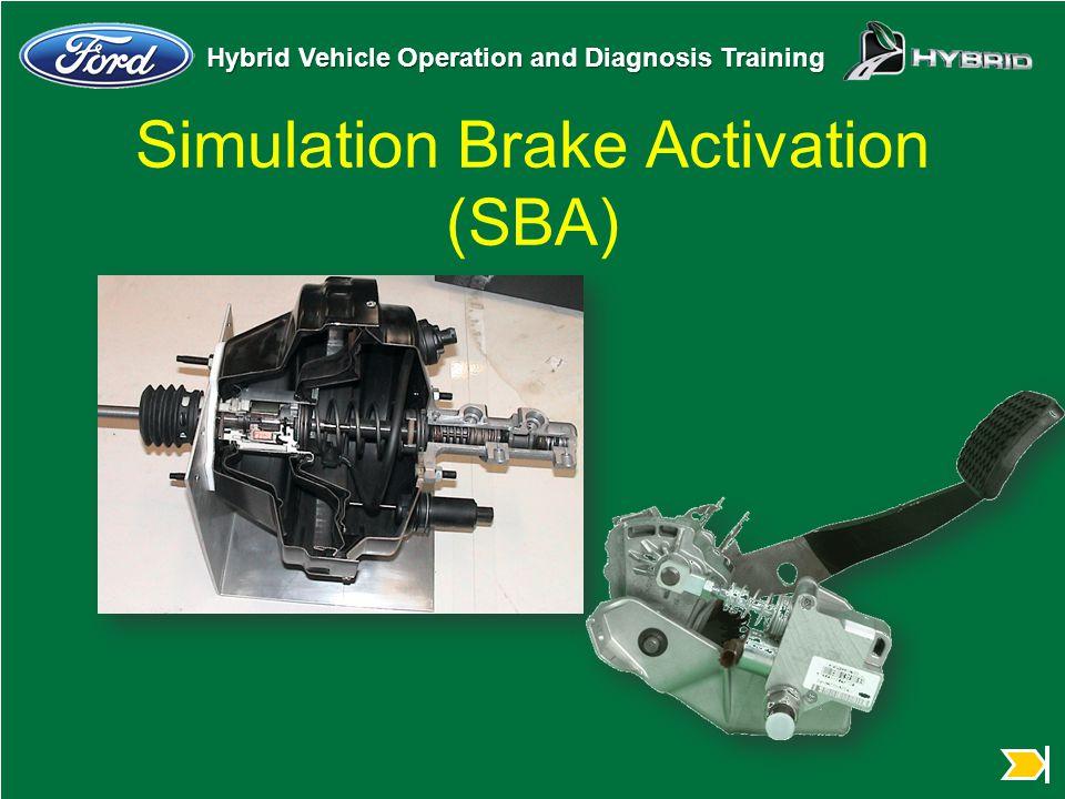 Hybrid Vehicle Operation and Diagnosis Training Simulation Brake Activation (SBA)