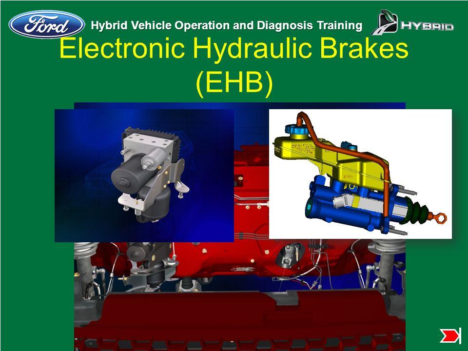 Hybrid Vehicle Operation and Diagnosis Training Electronic Hydraulic Brakes (EHB)