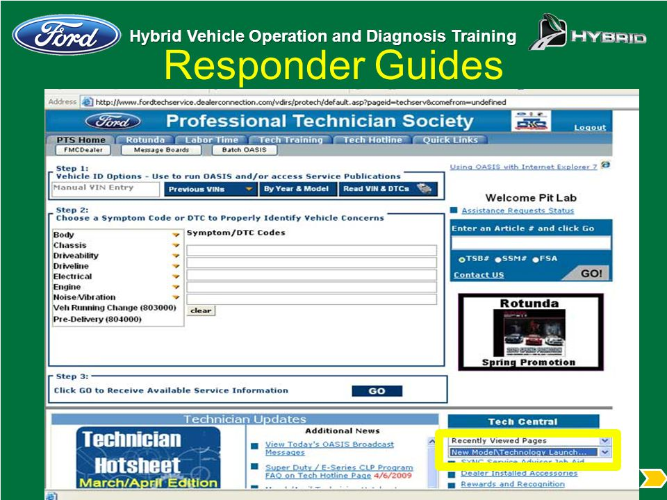 Hybrid Vehicle Operation and Diagnosis Training Responder Guides