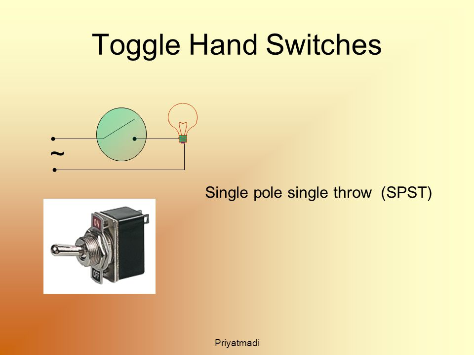 Priyatmadi Toggle Hand Switches ~ Single pole single throw (SPST)