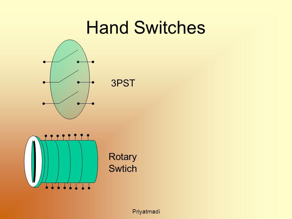 Priyatmadi Hand Switches 3PST Rotary Swtich
