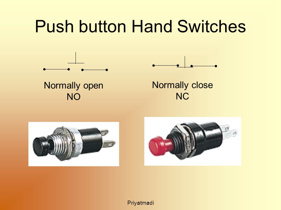 Priyatmadi Push button Hand Switches Normally open NO Normally close NC