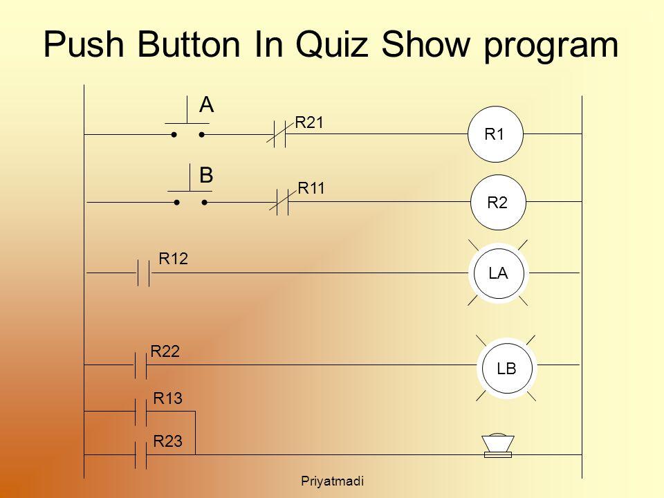 Priyatmadi Push Button In Quiz Show program R1 R11 A B R2 R21 LA R12 R22 R13 R23 LB