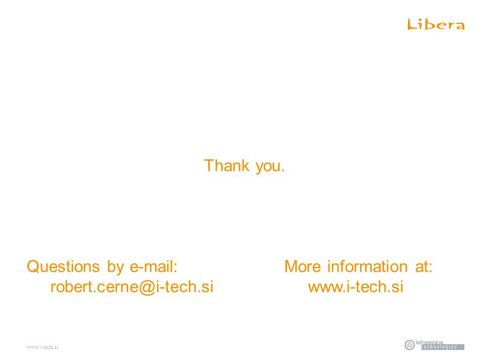 www.i-tech.si Thank you.