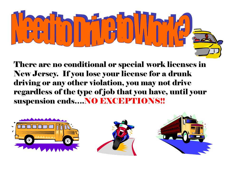 Intoxicated Driver Resource Centers  Convicted of alcohol related traffic offense? Must be detained at the IDRC.  Each of New Jersey's 21 counties h