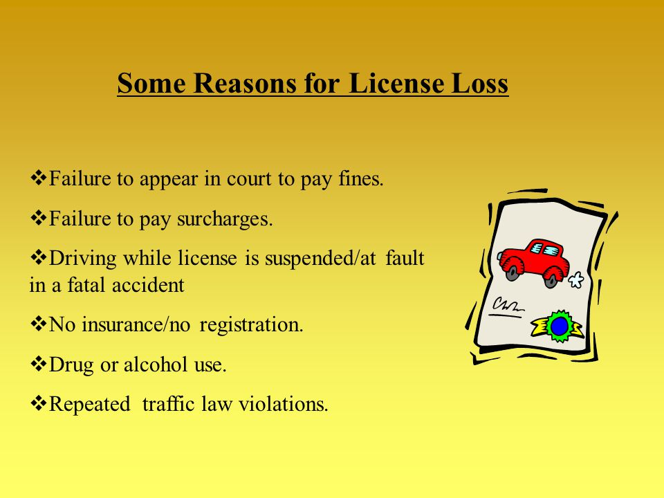 Traffic Laws – Chapter 7 Remember: Driving is a privilege, NOT A RIGHT!! The length of your suspension depends on the laws that you break!! BE RESPONS