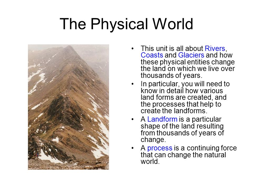 The Physical World Revision Notes