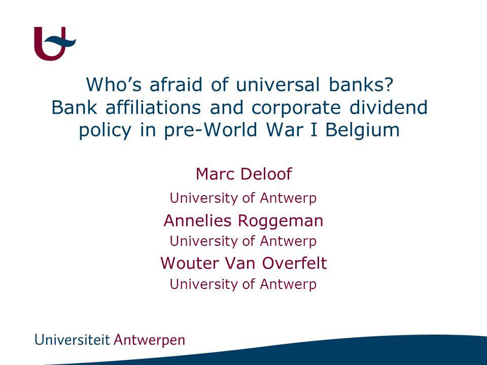 Who's afraid of universal banks.