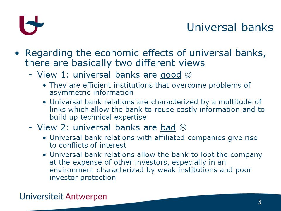4 Research question In this paper, we focus on corporate dividend policy -Dividend play a central role in the relationship between insiders and outside investors -Dividends limit the scope for insiders to expropriate value from outside investors, because they reduce the inside cash in the firm, and they guarantee a pro-rata payout to all shareholders How did universal bank affiliation affect dividend policy of 428 Belgian companies listed on the Brussels Stock Exchange in 1905-1909?