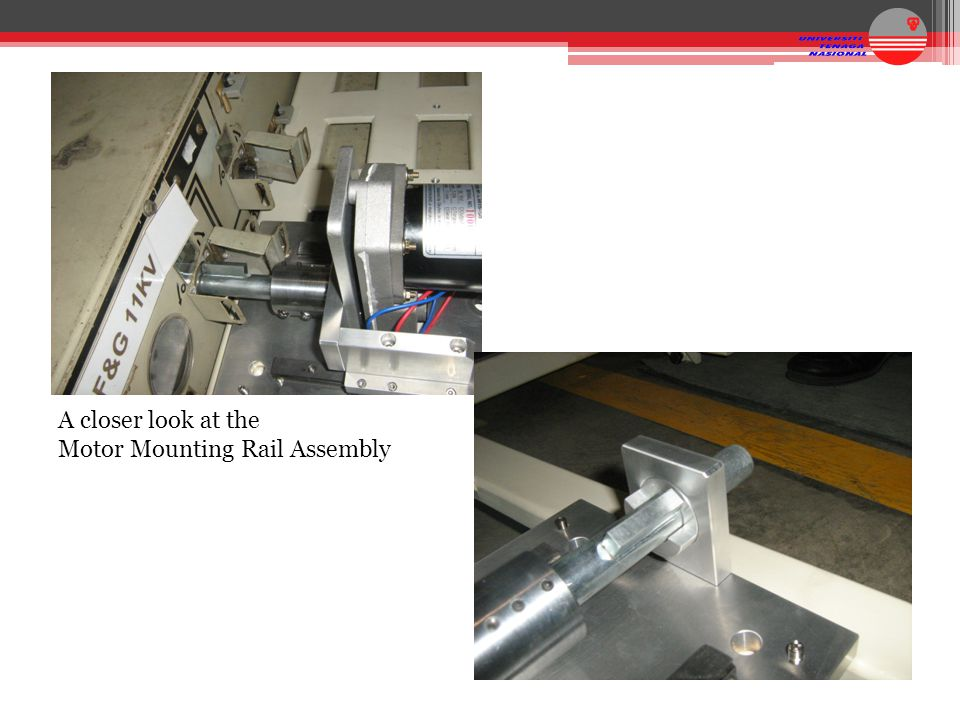 A closer look at the Motor Mounting Rail Assembly