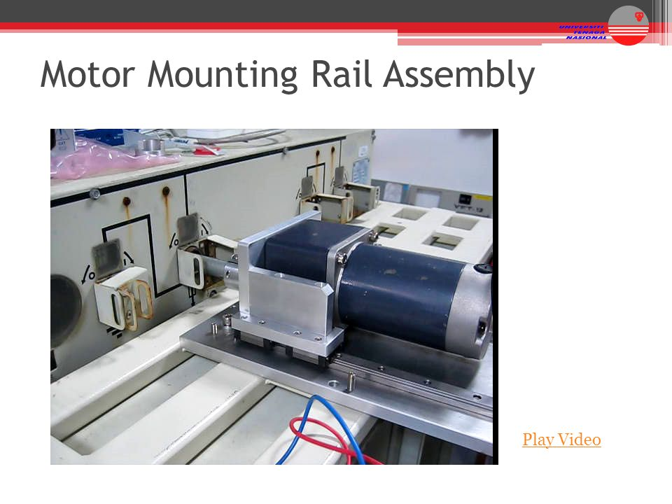 Play Video Motor Mounting Rail Assembly