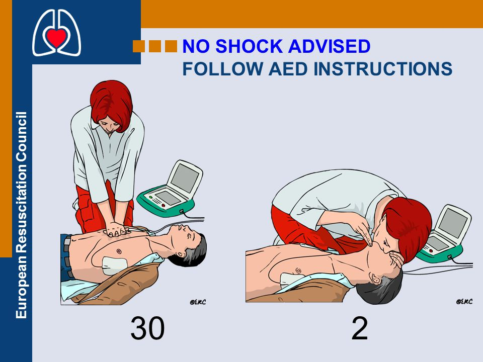 European Resuscitation Council SHOCK DELIVERED FOLLOW AED INSTRUCTIONS 30 2