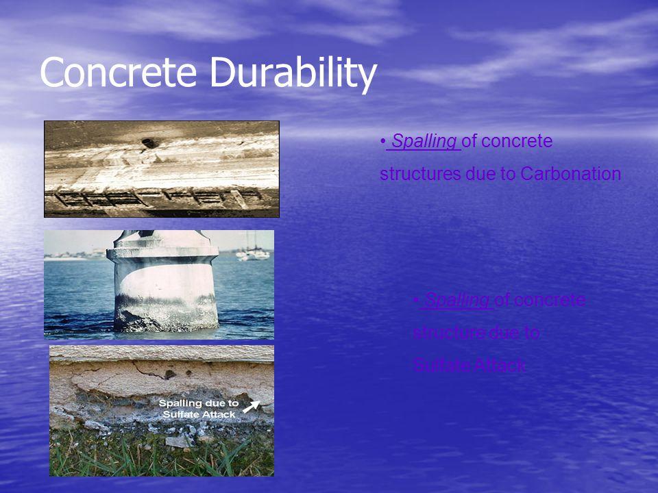 Concrete Durability Spalling of concrete structure due to Sulfate Attack Spalling of concrete structures due to Carbonation