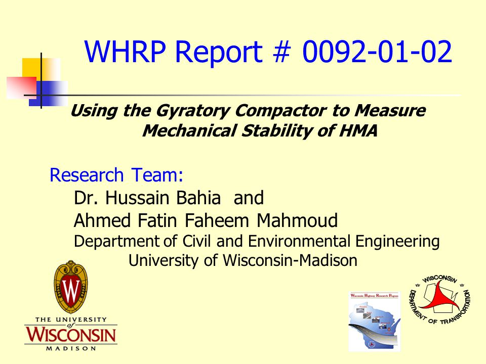 Impacts and Implementation WHRP Implementation Pilot Project Technical Documents and Concept Presentation Preparation Supplemental Laboratory Testing Marketing Strategy for Knowledge Transfer Formal Follow up