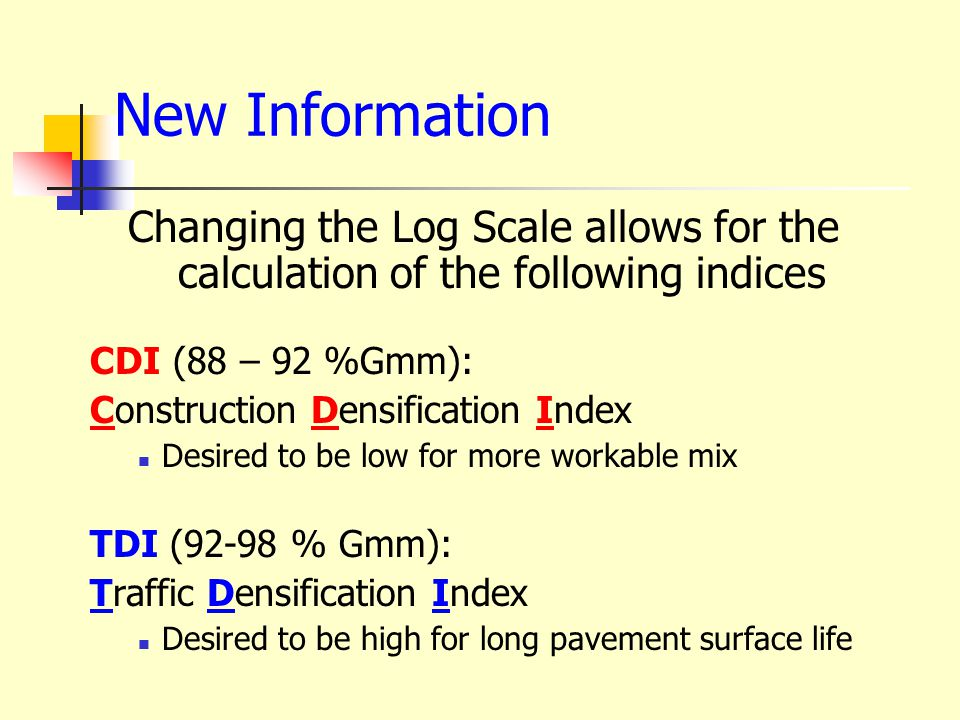 Coarse Blend Indicators Fine Blend Indicators Superpave Mixes can show different performance Energy Indicators