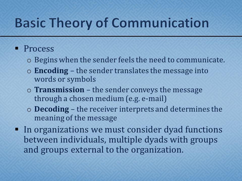  Communication is a process that sends a message while information is the actual message.