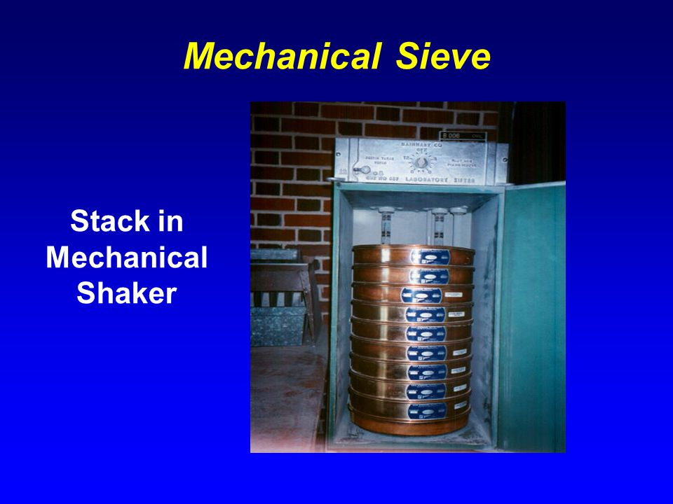 Mechanical Sieve Stack in Mechanical Shaker