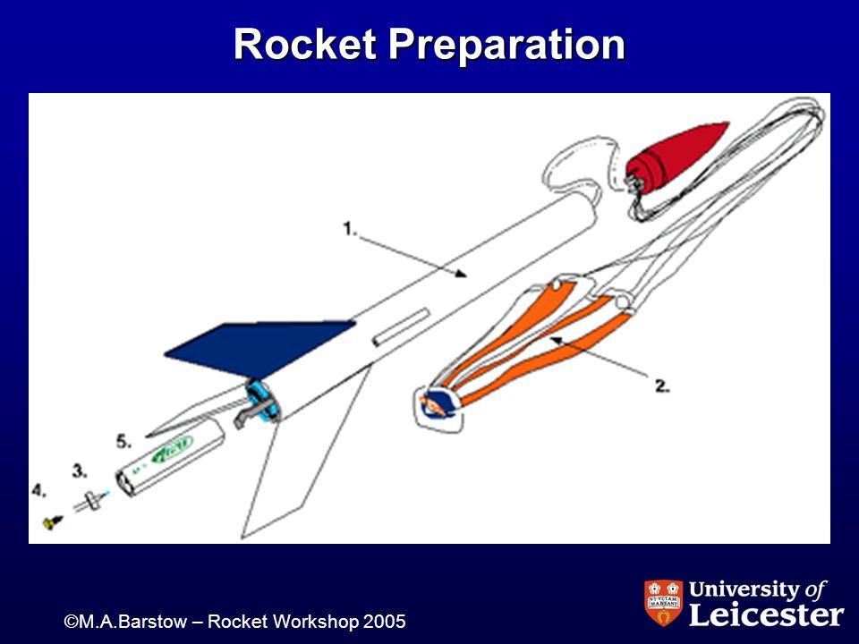 ©M.A.Barstow – Rocket Workshop 2005 Rocket Preparation
