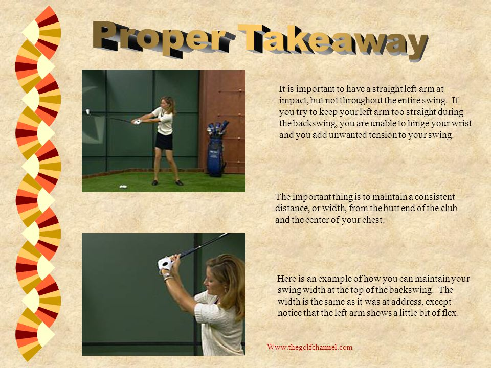 Here is an example of how you can maintain your swing width at the top of the backswing.