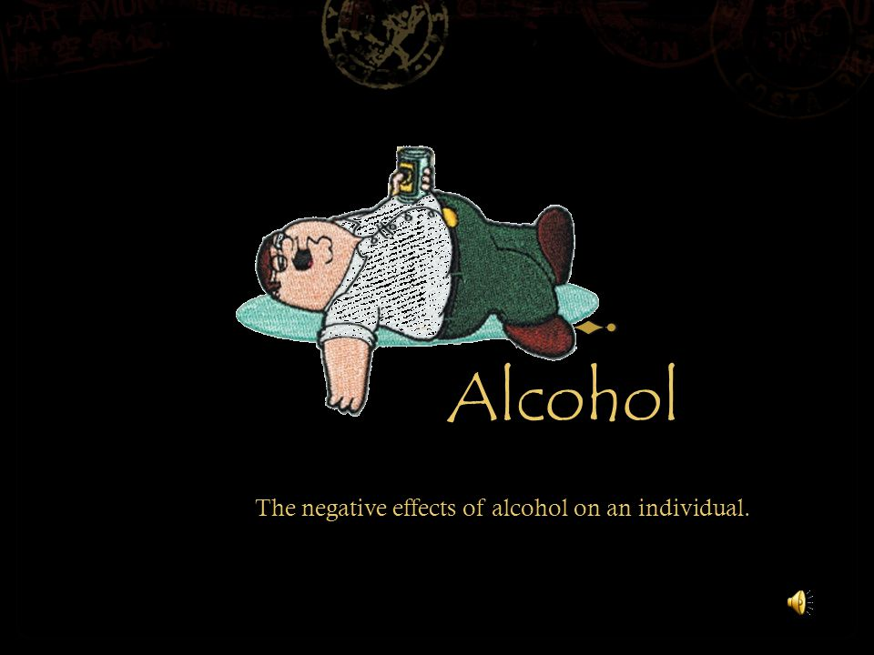 Effects of Alcohol  Alcohol is a drug that affects overall driving ability.