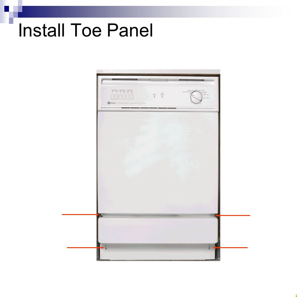 Install Toe Panel