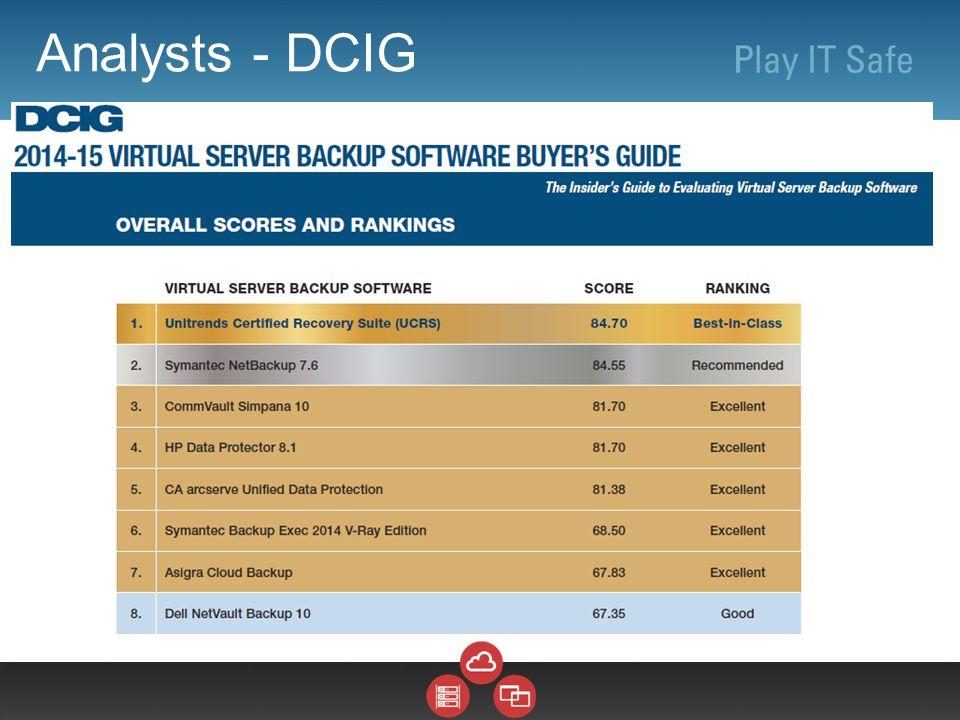 Analysts - DCIG