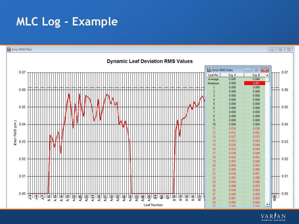 MLC Log - Example