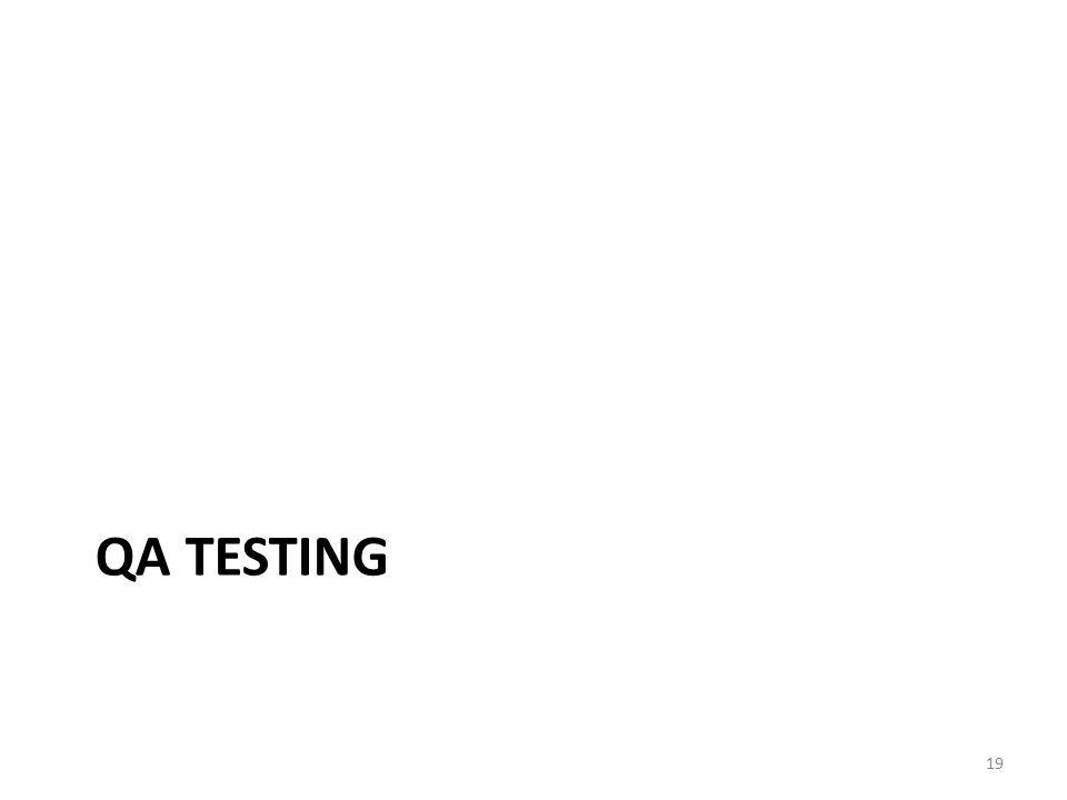 QA TESTING 19