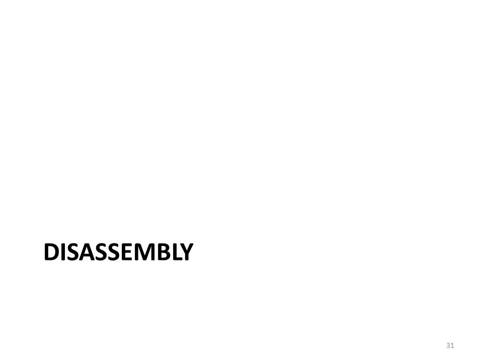 DISASSEMBLY 31