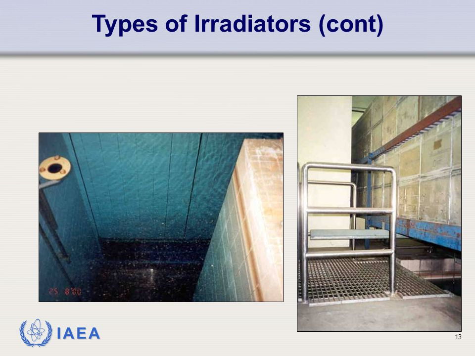 IAEA Types of Irradiators (cont) 13