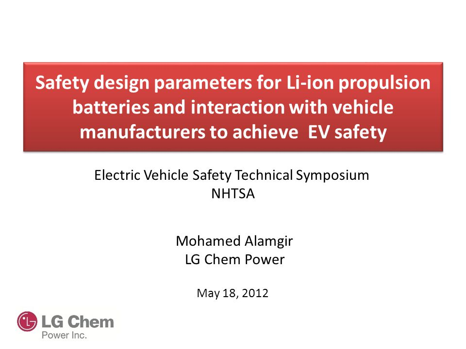 Introduction  Battery safety involves interactions from cell component to the battery system level.