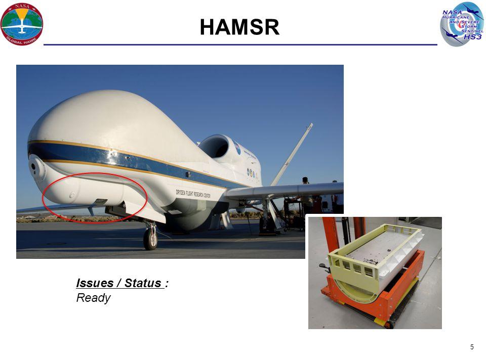 5 HAMSR Issues / Status : Ready