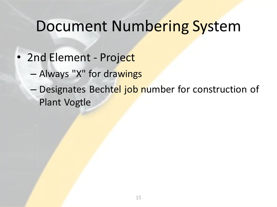 Document Numbering System 2nd Element - Project – Always