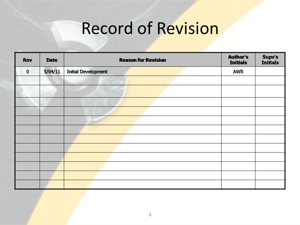 Other Information Rad Levels – Indicated by R and a Roman Numeral R I - <0.25 MR/HR R II – 0.25 – 2.5 MR/HR R III – 2.5 – 15 MR/HR R IV – 15 – 100 MR/HR R V – > 100 MR/HR 45