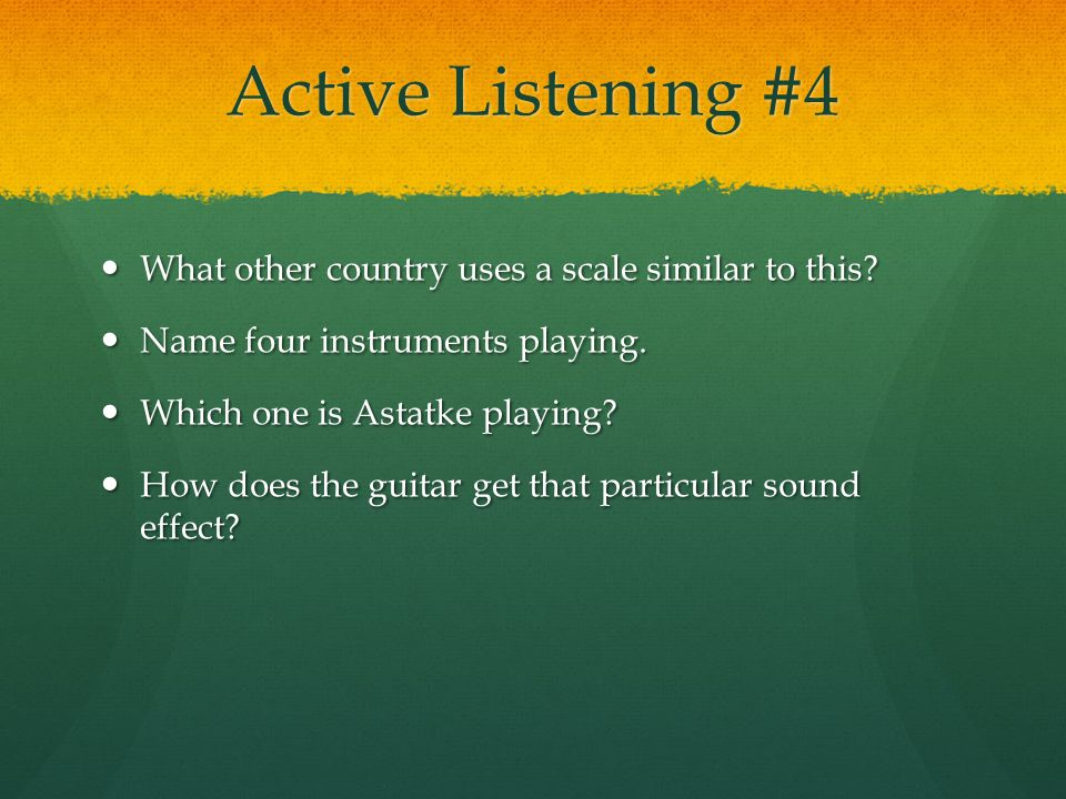 Active Listening #4 What other country uses a scale similar to this.