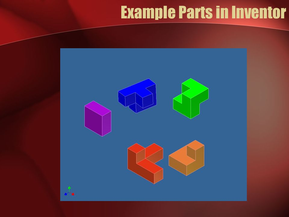 Example Parts in Inventor
