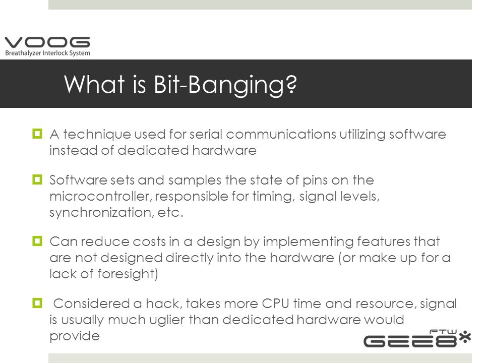 What is Bit-Banging.