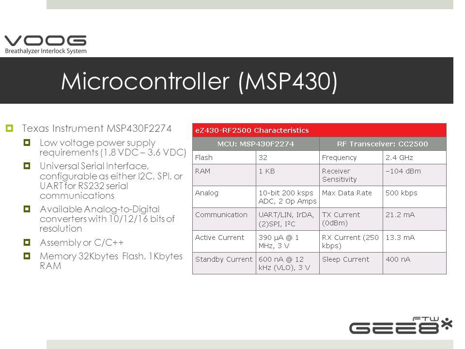 Microcontroller (MSP430)