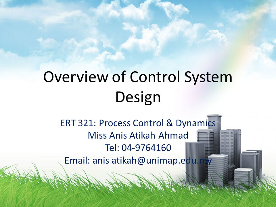 Degrees of Freedom for Process Control: Effect of Feedback Control Case 2.