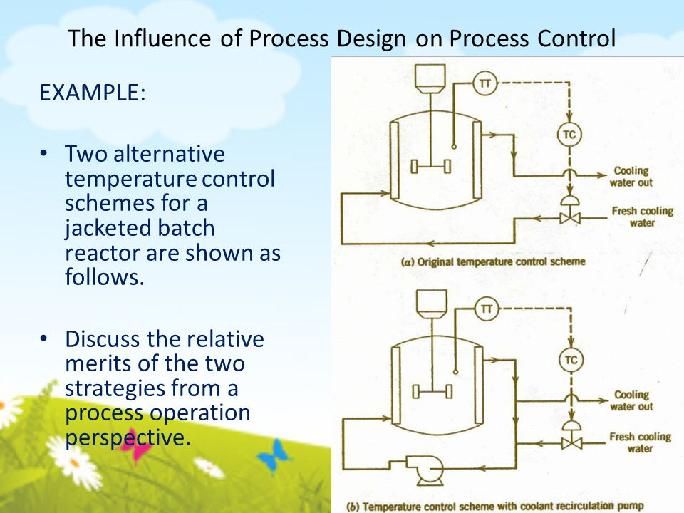 Degrees of Freedom for Process Control: Example 2 Five output variables could be selected as controlled variables: x D, x B, h B, h D and P.