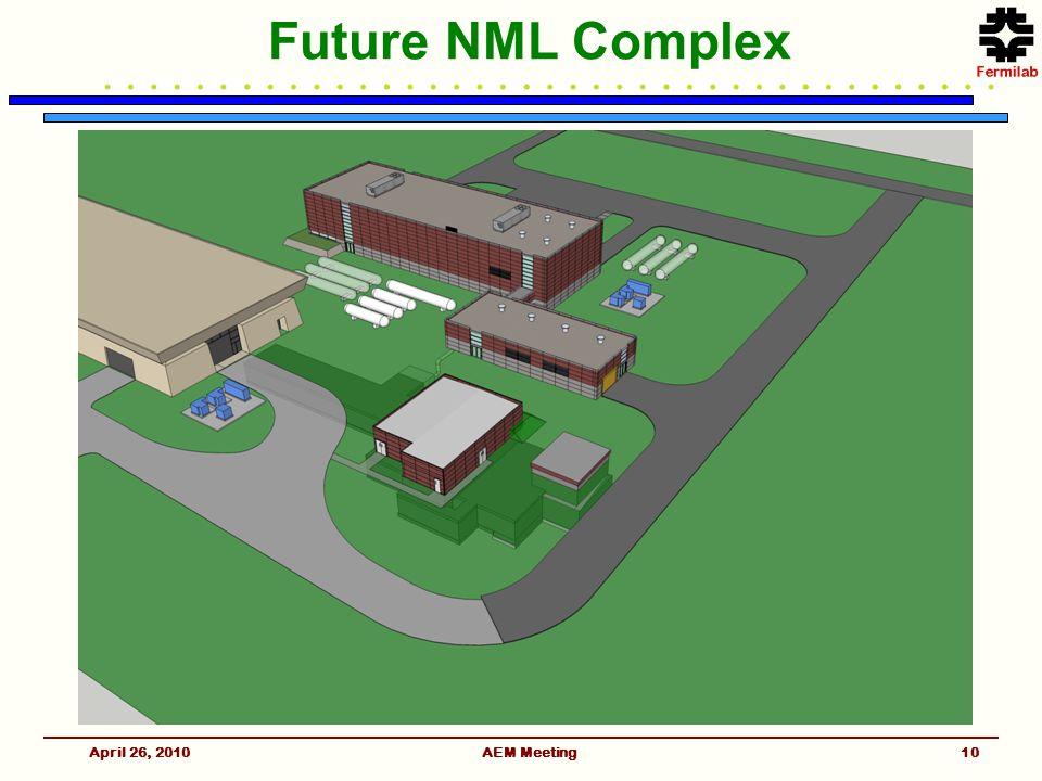 Future NML Complex April 26, 2010AEM Meeting10