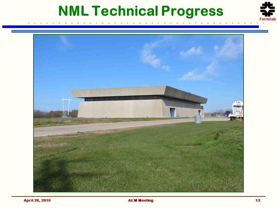 AEM Meeting NML Technical Progress April 26, 201013