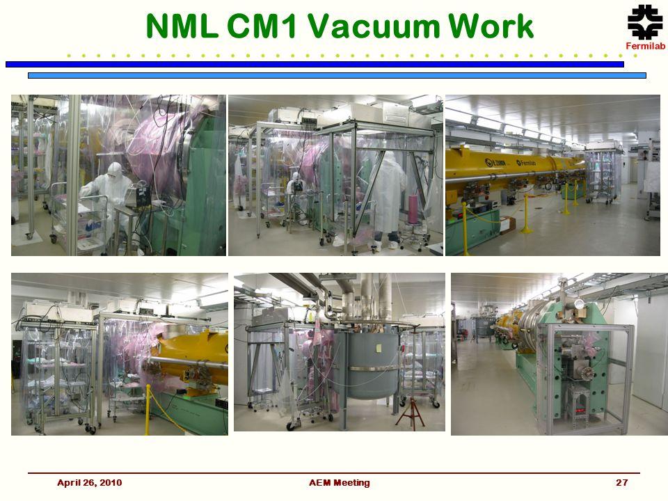AEM Meeting NML CM1 Vacuum Work April 26, 201027