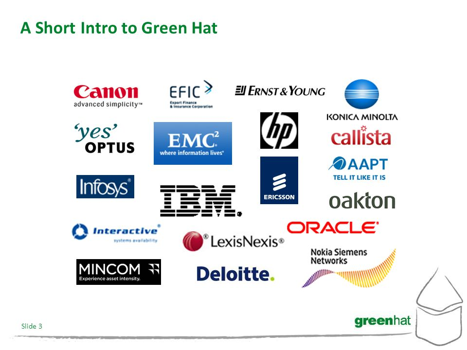 Slide 3 A Short Intro to Green Hat