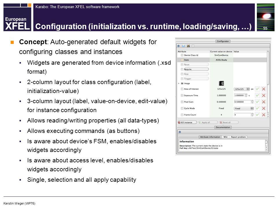 Karabo: The European XFEL software framework Configuration (initialization vs.